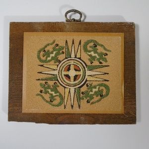New Mexico Native American Indian Sand Art Vintage